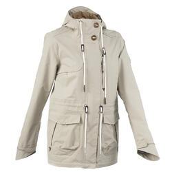 NH500 女款防水自然健行夾克 卡其色