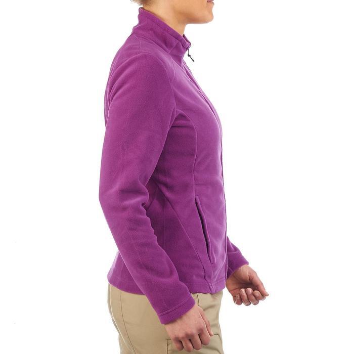 Chaqueta polar de senderismo montaña mujer Forclaz 200 púrpura