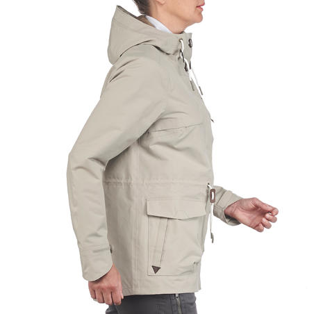 NH500 Protect Women's Waterproof Country Walking Parka Jacket - Beige