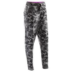 Pantalón de danza carrot camuflaje gris mujer
