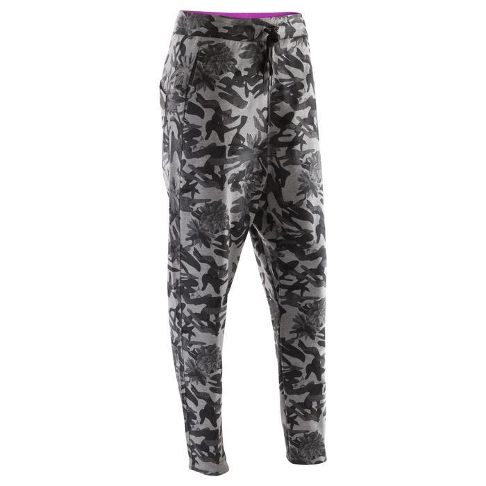 Pantalon danse carrot camouflage gris femme