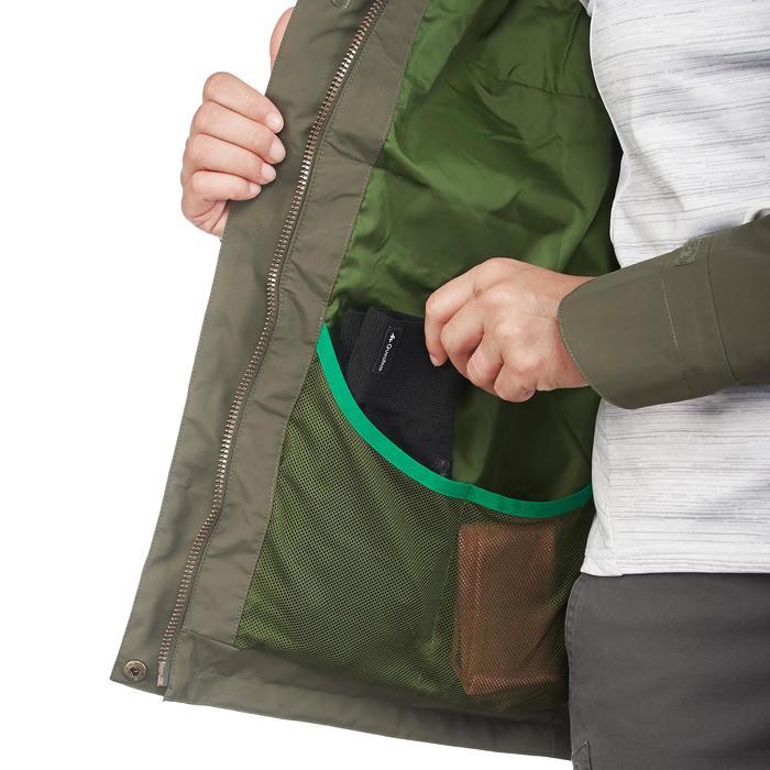 Regenjacke NH500 Protect Damen kaki für Naturwanderungen