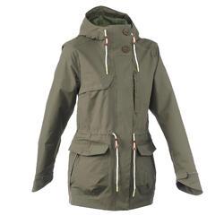 NH500 Parka Women's Waterproof Jacket - Khaki