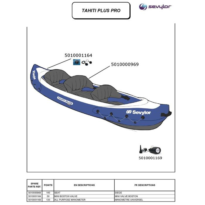 Kayak Tahiti + Pro 3 places - 1184871