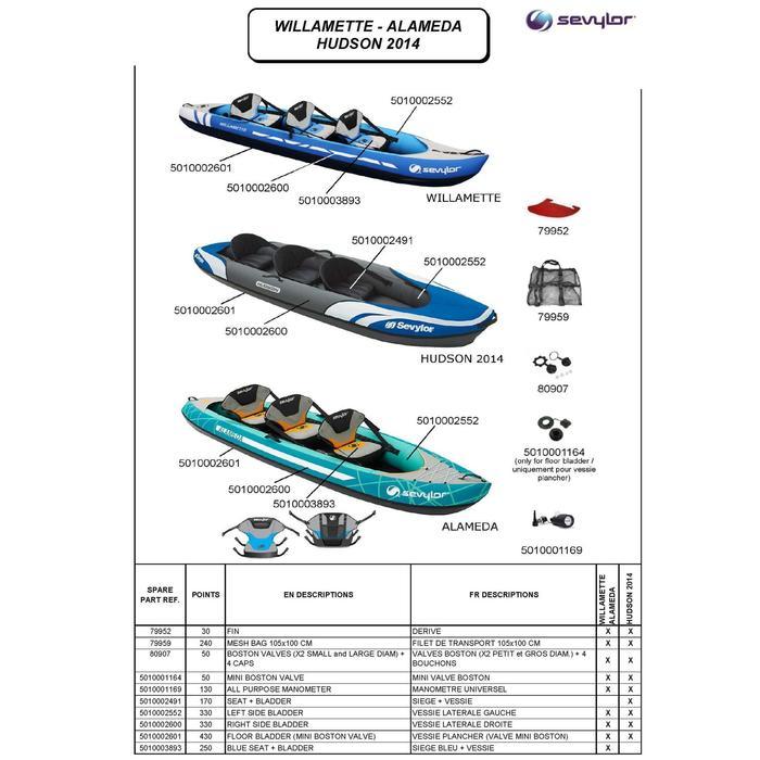 sevylor canoe kayak gonflable willamette 3 places decathlon. Black Bedroom Furniture Sets. Home Design Ideas