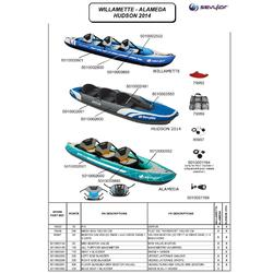 Kayak Canoa Hinchable De Travesia Sevylor WILLAMETTE 3 Plazas Azul