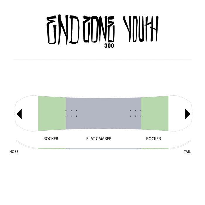 Snowboard junior End Zone 300 Youth jaune - 118497