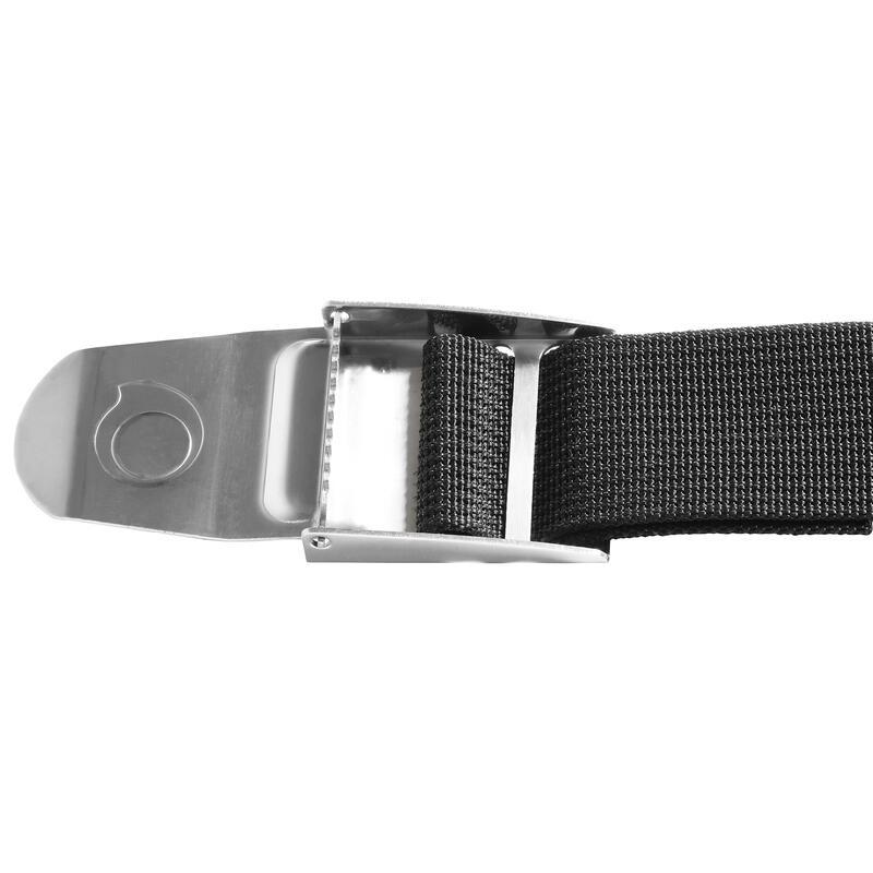 Cinturón para lastres de buceo SCD 500 hebilla inox