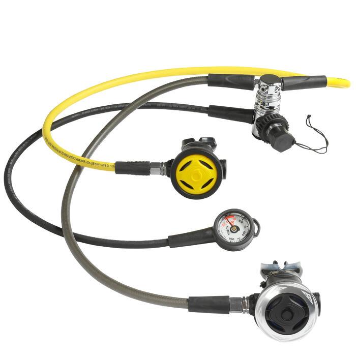 Pack détendeur de plongée avec manomètre octopus SCD 500 DIN 300 piston compensé - 1185038