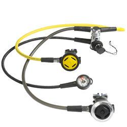 Set van ademautomaat, manometer en octopus SCD 500 DIN 300 gebalanceerde piston