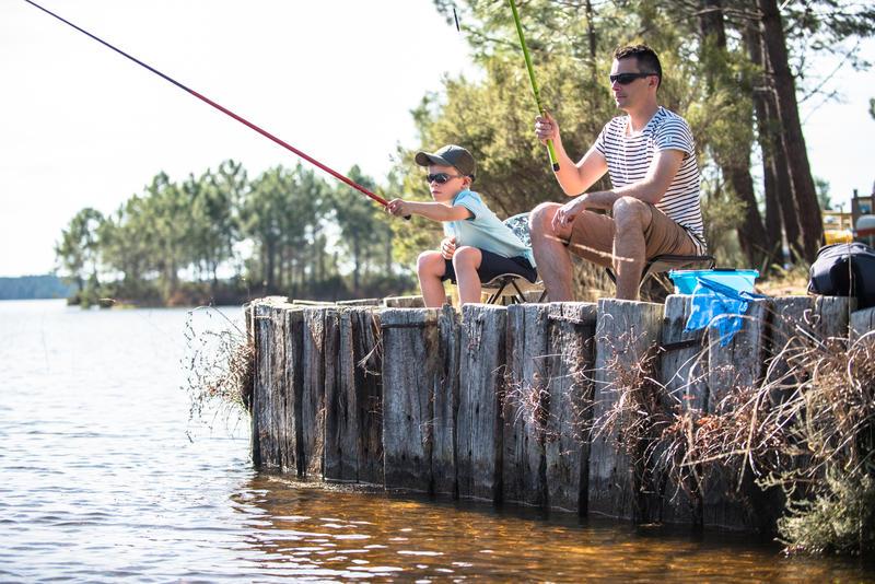 Conjunto descubrimiento de la pesca FIRST FISH 300 ROJO