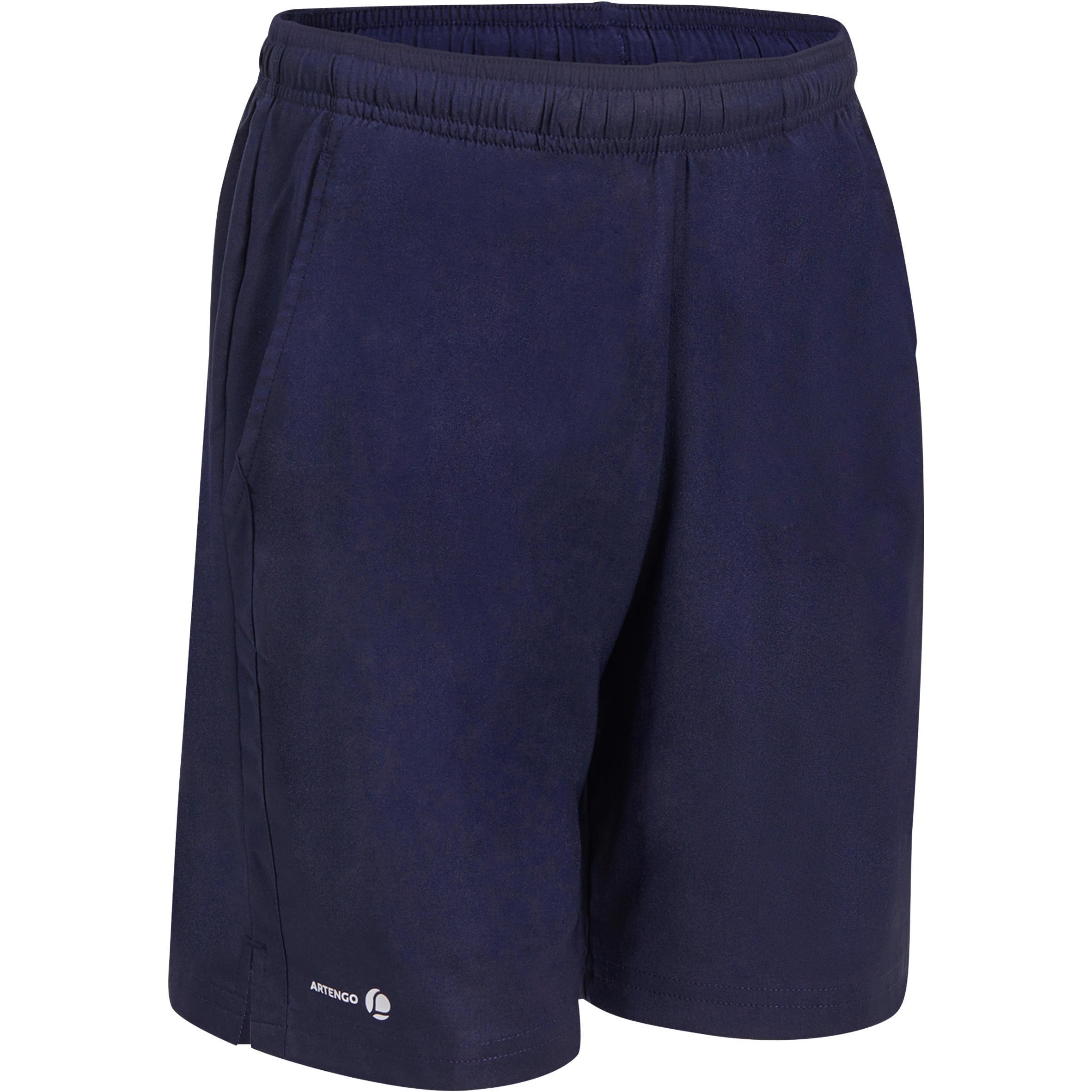 Artengo Jongensshort Soft blauw/wit 500 tennis/badminton/tafeltennis/padel/squash