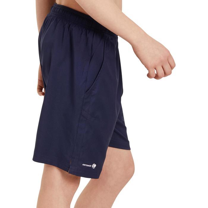 Jongensshort Soft marineblauw 500 tennis/badminton/tafeltennis/padel/squash