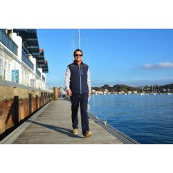 Gilet flottant réversible 50 N bateau homme IZEBER 2 bleu/orange