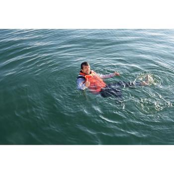Gilet flottant réversible 50 N bateau homme IZEBER 2 bleu/gris/orange