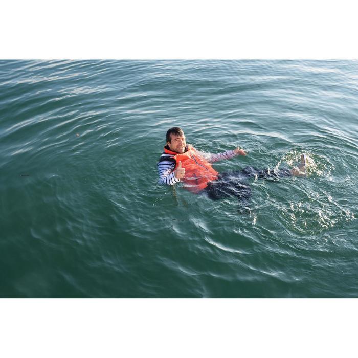Schwimmweste Izeber 2 wendbar 50N Segeln Herren blau/orange