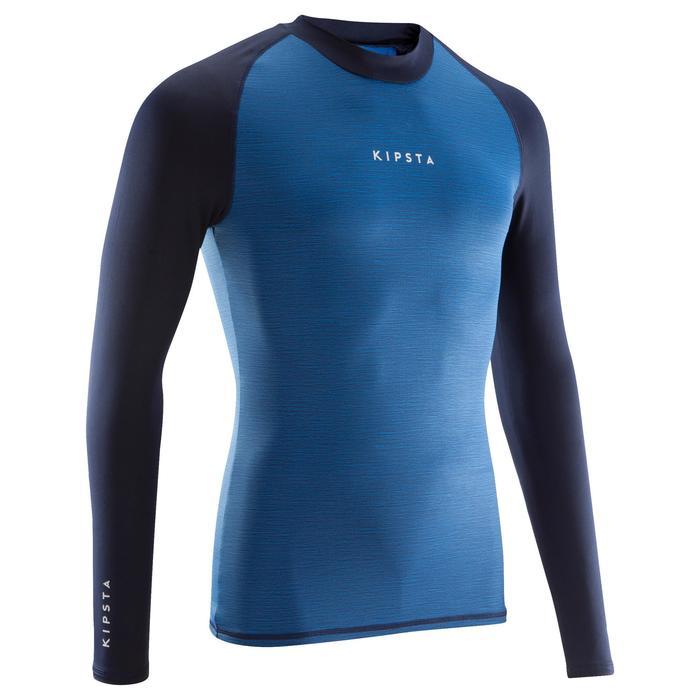 Keepdry 100 Adult Football Long-Sleeved Base Layer - Mottled Blue