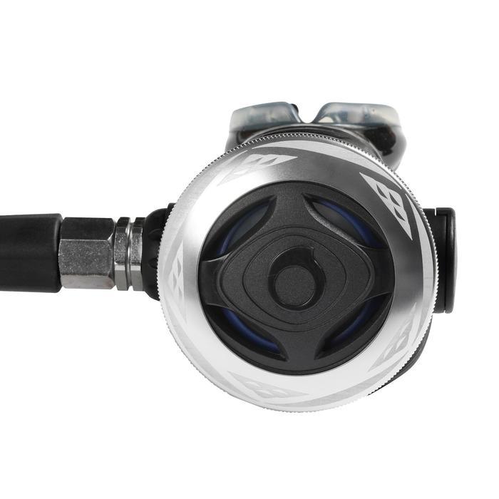 Atemregler-Set SCD500 DIN 300 mit Manometer Oktopus kompensierter Kolben