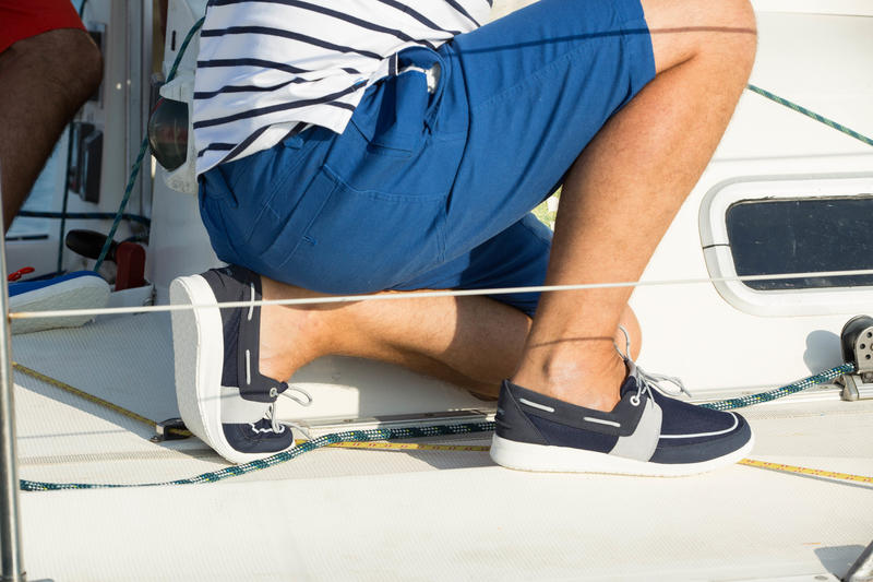 Chaussures bateau homme SAILING100 bleu marine