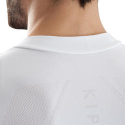 Keepdry 500 Adults' Soccer Short-Sleeved Base Layer - White