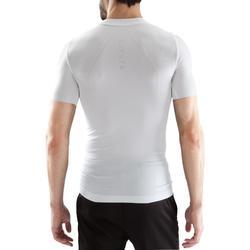 Camiseta térmica de fútbol de manga corta adulto Keepdry 500 blanco