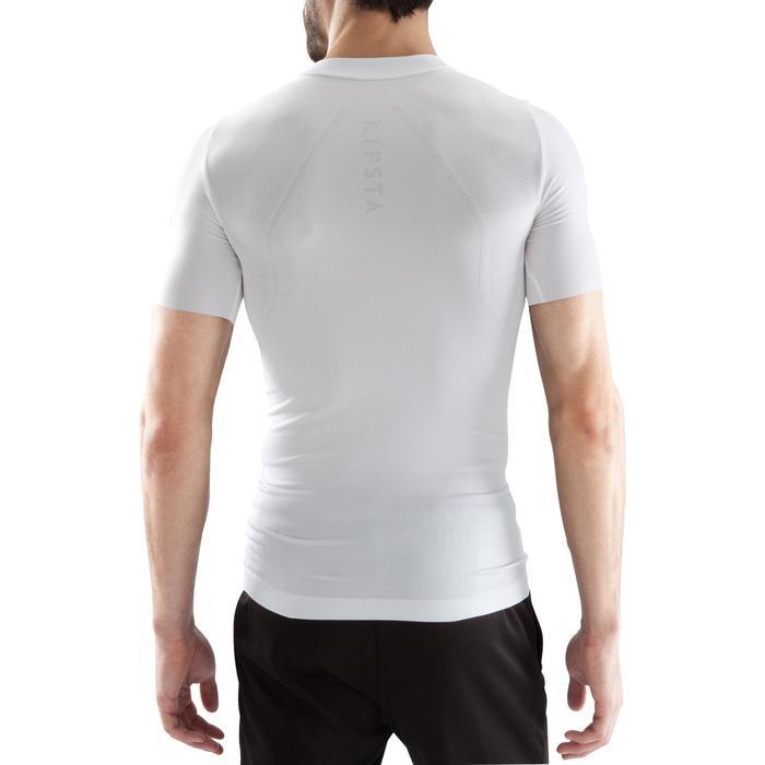 Ondershirt met korte mouwen voetbal voor volwassenen Keepdry 500 wit