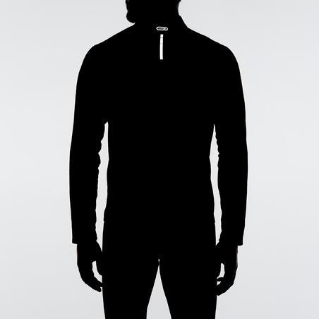 """""""Run Warm"""" vyrų marškinėliai ilgomis rankovėmis – juodi"""