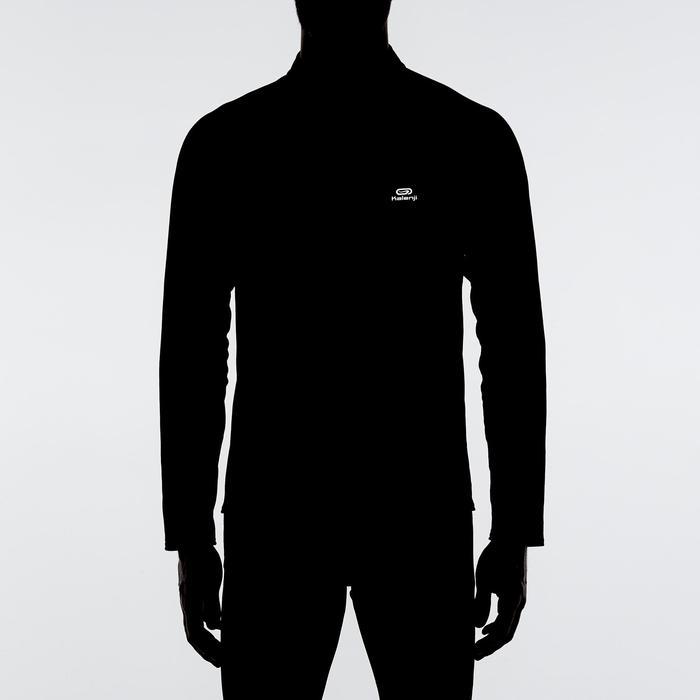 Loopshirt met lange mouwen Run Warm voor heren zwart
