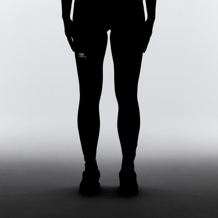 Mallas Térmicas Leggings Deportivos Running Kalenji Run Dry Mujer Negro