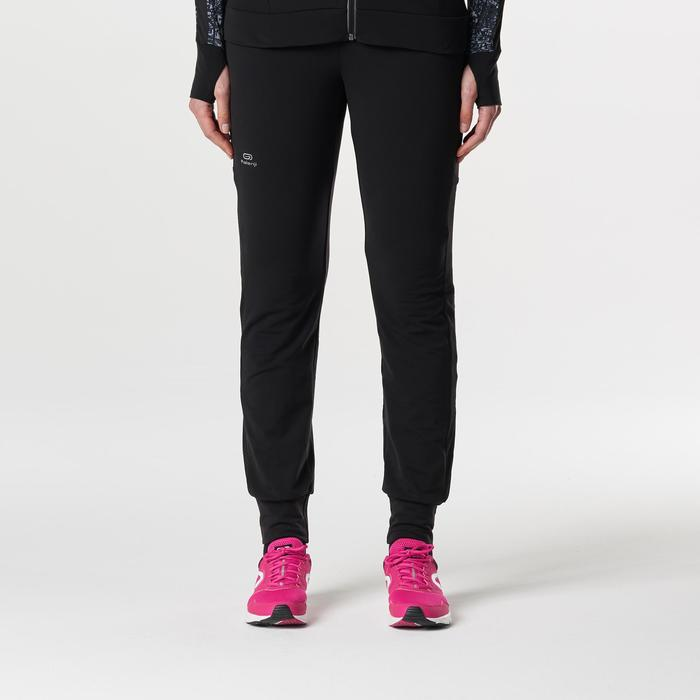 Joggingbroek voor dames Run Warm zwart
