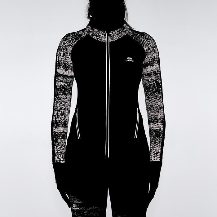 Run Warm Women's Running Jacket Hood - Night Black