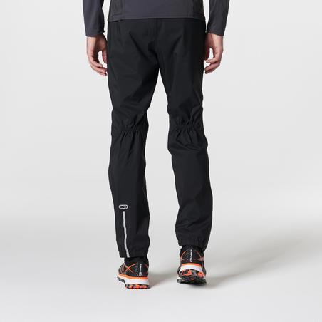 Pantalon imperméable course en sentier homme noir