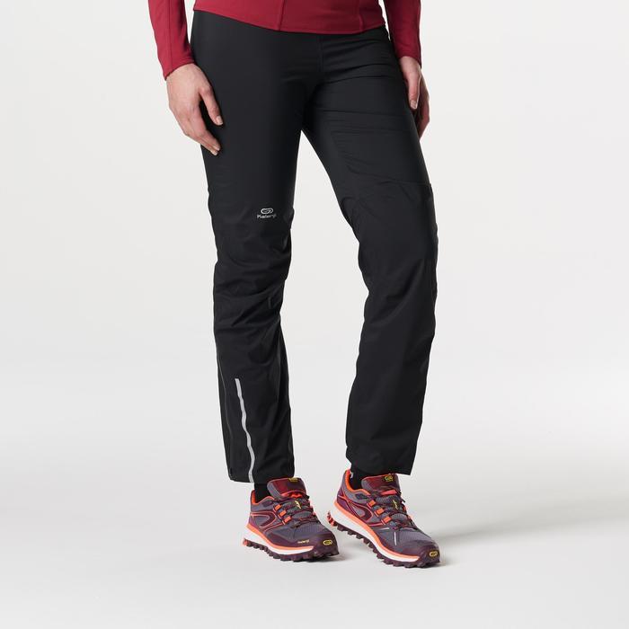Pantalon imperméable trail running noir femme - 1185445