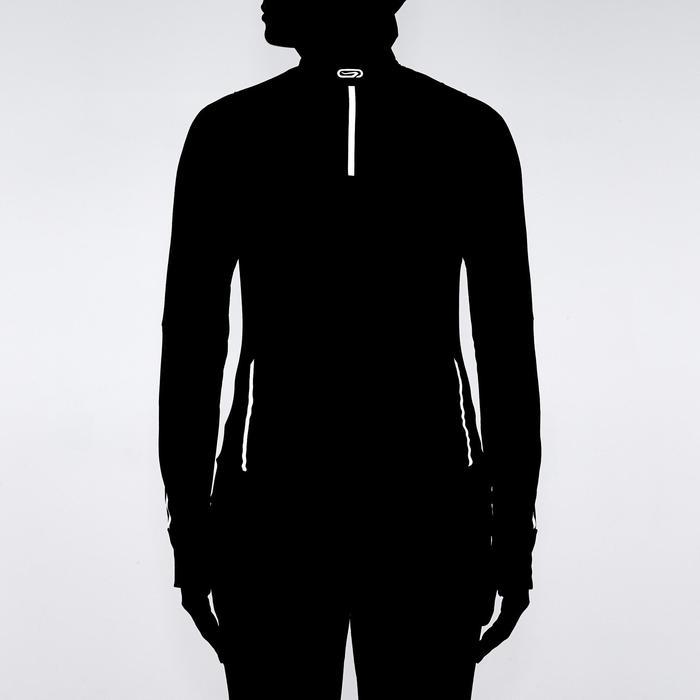 女款跑步運動無袖背心RUN WARM - 黑色