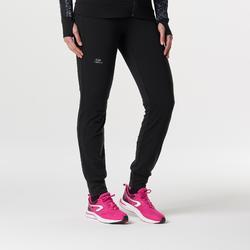 Pantalón Largo Deportivo Running Kalenji Run Warm Mujer Negro
