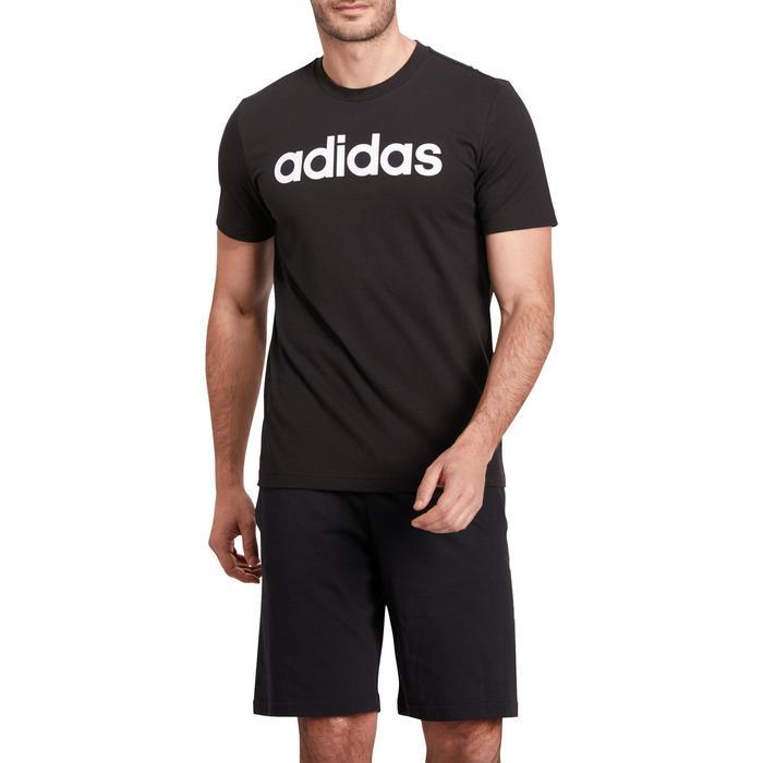 Heren T-shirt Adidas 500 voor gym en stretching zwart