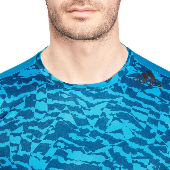 T-shirt fitness homme bleu - 1185673