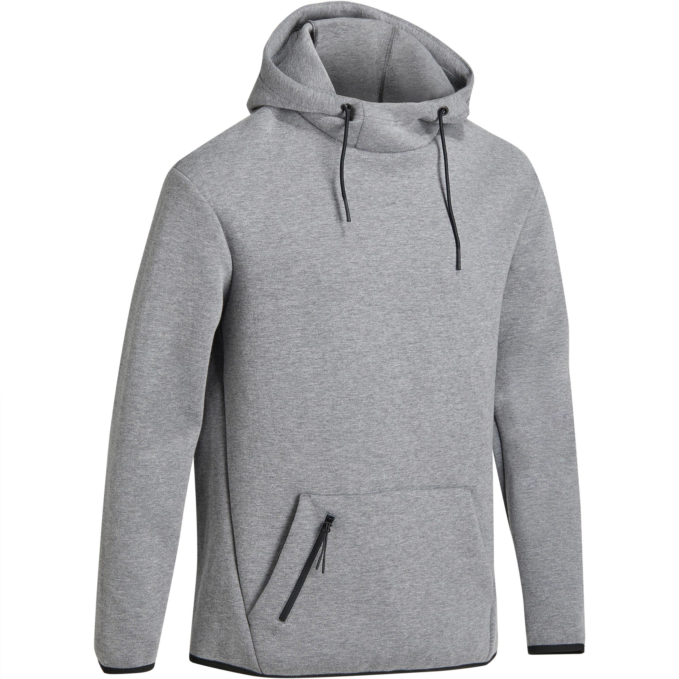 Domyos Heren hoodie in spacer-stof voor gym en pilates