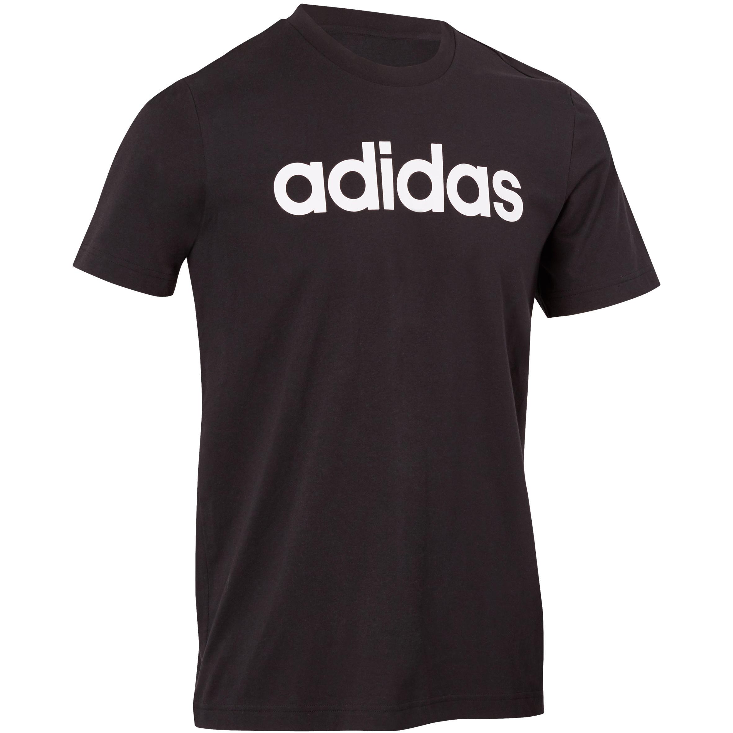 Adidas Heren T-shirt voor gym en pilates zwart