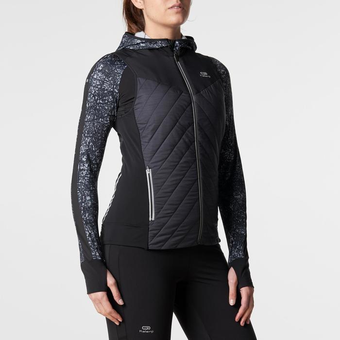 Mouwloos vest jogging dames Run Warm zwart