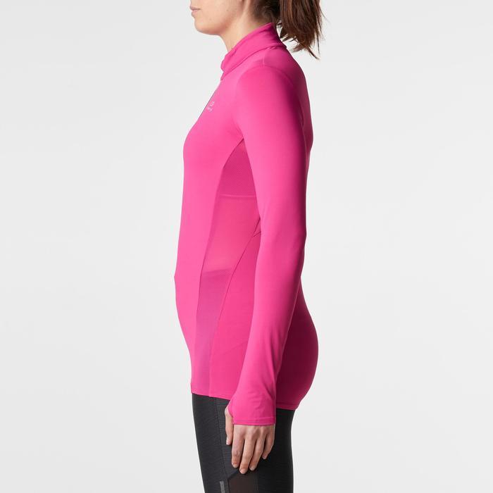 Run Dry + Zip Women's Running Long-Sleeved Shirt - Pink - 1185972