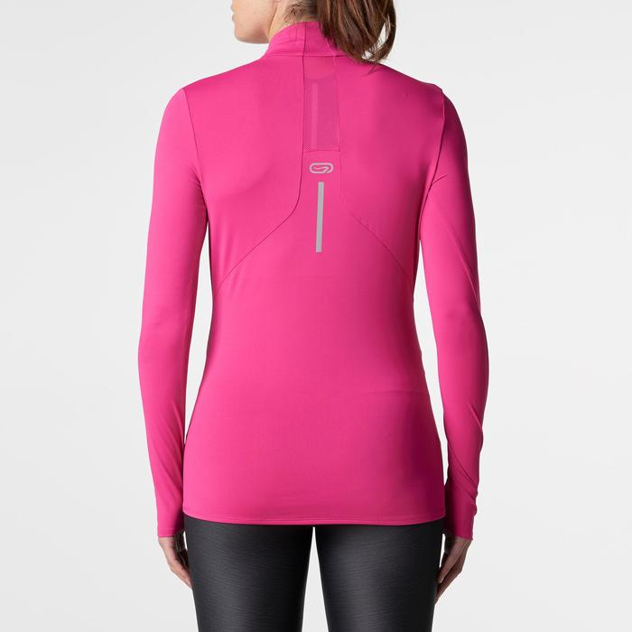 Run Dry + Zip Women's Running Long-Sleeved Shirt - Pink - 1185981