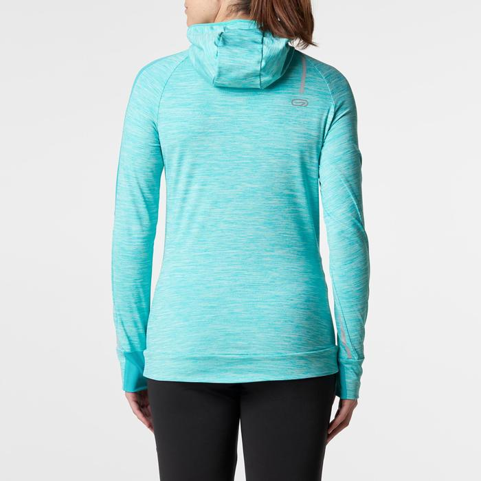 MAILLOT MANCHES LONGUES JOGGING FEMME RUN WARM HOOD CHINE - 1186021