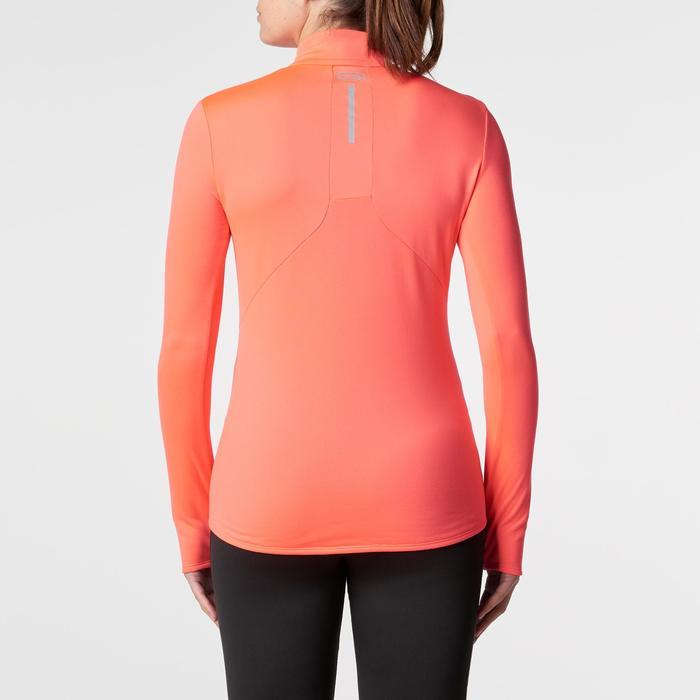 女款跑步長袖運動衫Run Warm - 珊瑚紅
