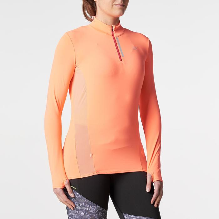 MAILLOT MANCHES LONGUES JOGGING FEMME RUN DRY+ ZIP - 1186050