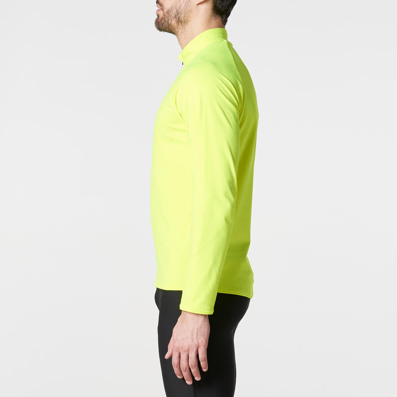 Run Warm Men's Long-Sleeved Running T-Shirt - Yellow