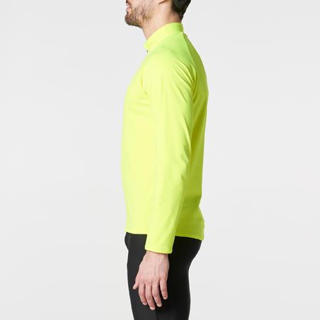 """""""Run Warm"""" vyrų marškinėliai ilgomis rankovėmis – geltoni"""