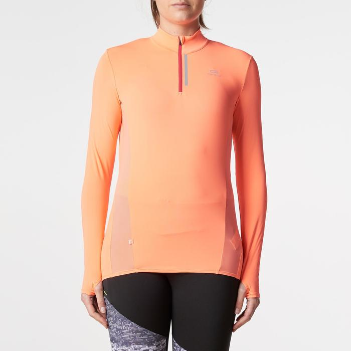 MAILLOT MANCHES LONGUES JOGGING FEMME RUN DRY+ ZIP - 1186087