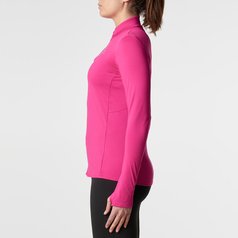 RUN WARM WOMEN'S RUNNING LONG-SLEEVED JERSEY - PINK