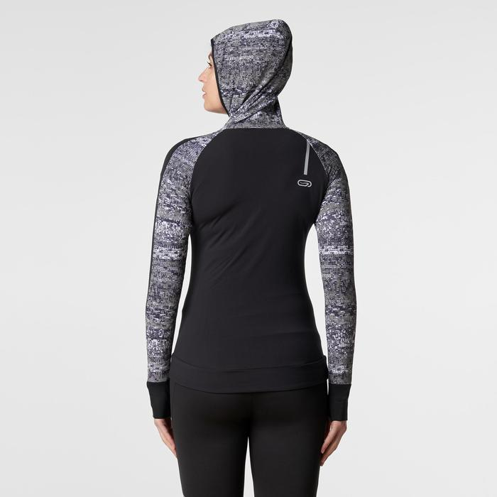 Run Warm Women's Running Jacket Hood - Black  - 1186126